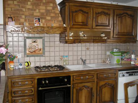 Eb nisterie moton sculpture et b nisterie 52 haute for Meuble de cuisine rustique